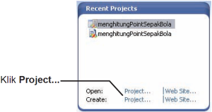 Gambar 3. Membuat Projet Baru